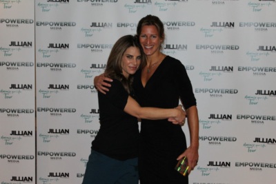 Cheryl with renowned wellbeing guru Jillian Michaels