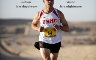 Marathon runner showing determination