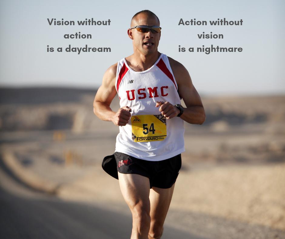 Marathon runner showing determination